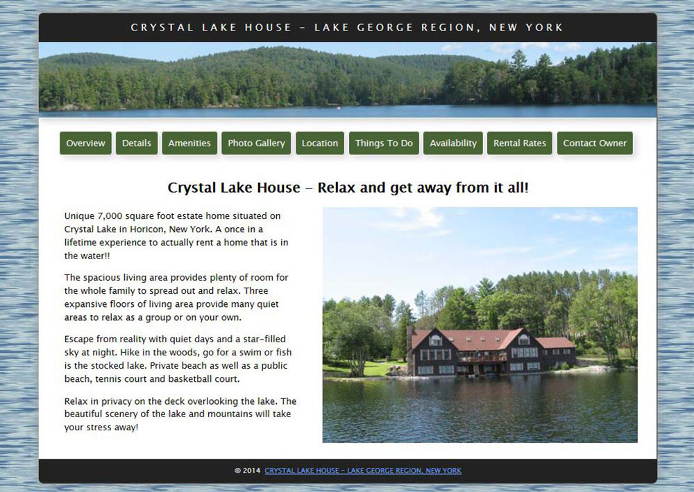 Crystal Lake House, NY