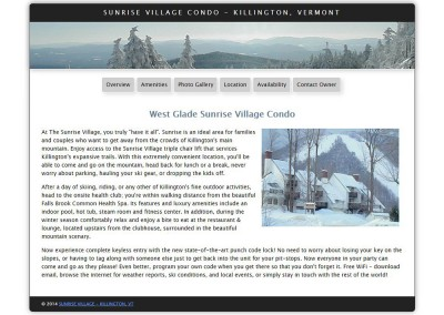 Sunrise Village Condo – Killington, Vermont