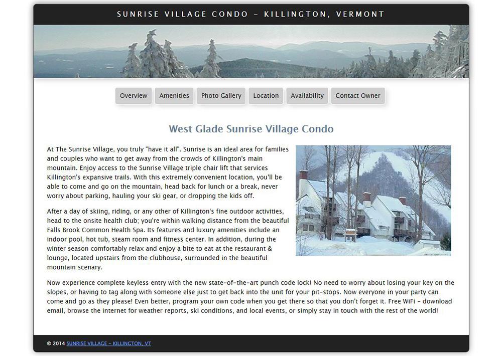 Sunrise Village Condo – Killington, Vermont